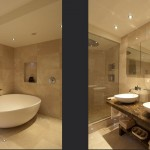 Travertine-bathrom-duo