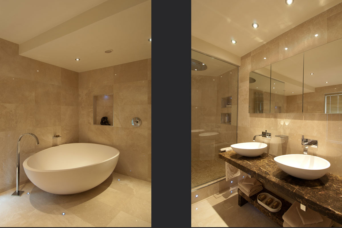 Travertine-bathrom-duo.jpg - Georgian House Residential Gallery - Definitive1 Interior Design