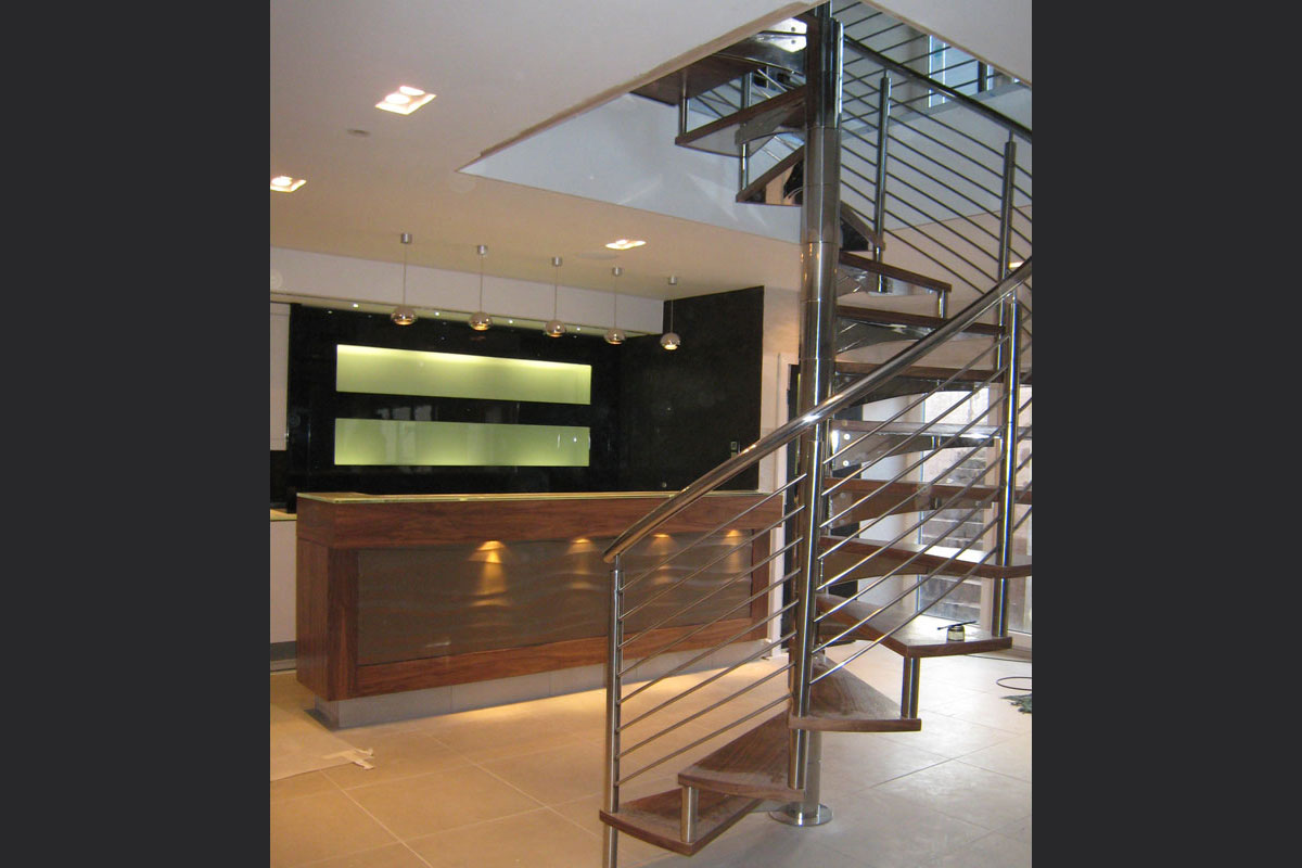 spiral-staircase-and-bar.jpg - Lancashire Residence Residential Gallery - Definitive1 Interior Design
