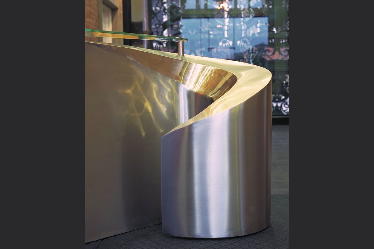 Stainless-steel-reception-desk