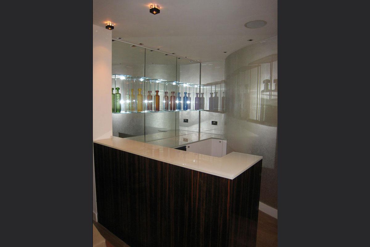 macassa-ebony-bar-with-UV-glued-glass-shelves-1.jpg - Built In Furniture Bespoke Gallery - Definitive1 Interior Design