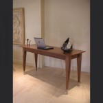 walnut-desk-with-brushed-stainless-steel-foot-detail