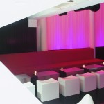 Rehab cube seats and stainless steel tables