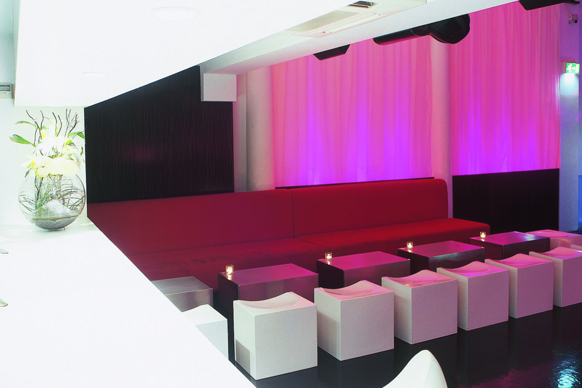 Rehab-cube-seats-and-stainless-steel-tables.jpg - Seating Bespoke Gallery - Definitive1 Interior Design